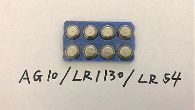 AG10 LR1130 LR54 189 389A Alkaline Button Cell Battery usa fast ship 1.5v x8