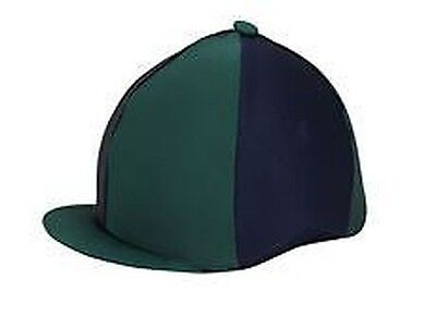 Bitz Bitz Hat Cover Lycra Two-Tone Equine Horse Rider Wear
