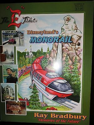 """The """"e"""" Ticket #36 Fall 2001 New Disneyland's Monorail Vintage Book"""