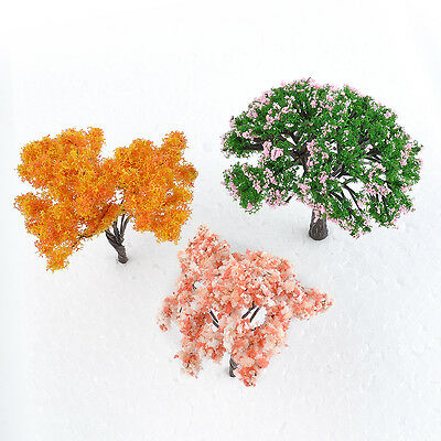 3x Mini Tree Miniature Dolls House Garden Artificial Plant Accessory Fairy Decor