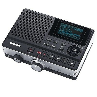 Sangean Supports MP3 & WMA Media w/ SD Card & USB Interface Built-In Clock NEW