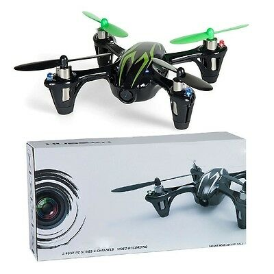 HUBSAN X4 H107C 2.4Ghz Quadcopter With 0.3 MP Video Camera Green/Black New