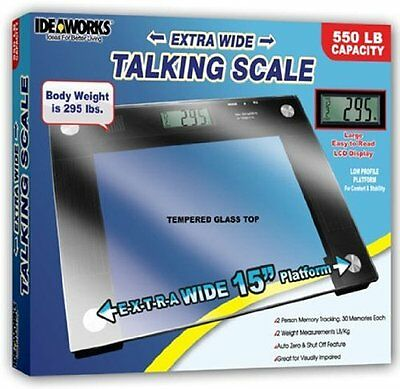 JOBAR, Extra Wide Talking Scale 550lbs