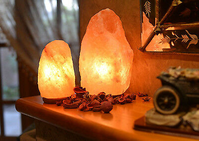 Himalayan Crystal Salt Lamp Natural Rock Salt Ionized Air Purifier LightDecor