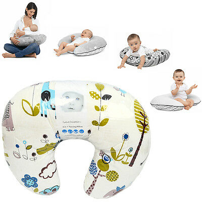 New 4Baby Jungle Blue 4 In 1 Nursing / Pregnancy Pillow Baby Feeding Cushion