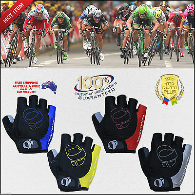 Sports Cycling Bike Bicycle Riding Half Finger Fingerless Gel Gloves Unisex M-Xl