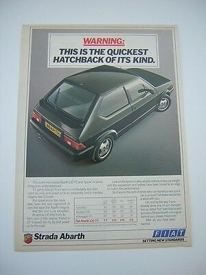 Fiat Strada Abarth Advert from 1984 - Original Advertisement
