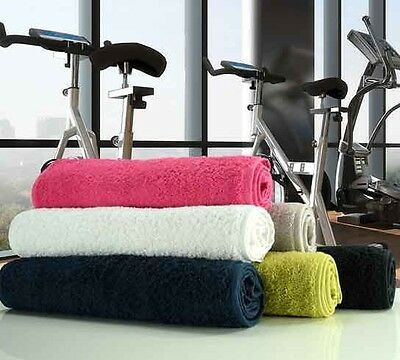 Gym Sweat Sports Fitness Towel 100% Cotton 500gsm in 6 COLOURS 30cm x 100cm