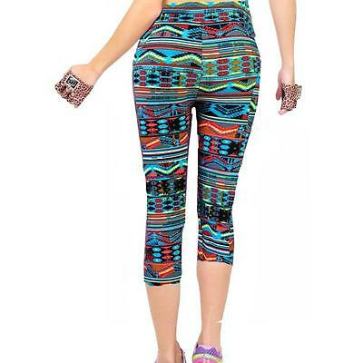 Sexy Mujer Talle Alto Fitness YOGA Deporte Correr Pantalones Floral