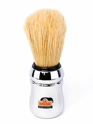 OMEGA Professional shaving brush in bristle CHROME FREE DELIVERY - GENUINE