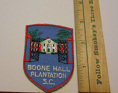 Boone Hall Plantation, SC Embroidered Souvenir Patch ~ Vintage