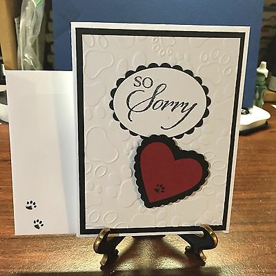 Handmade Sympathy Card for Loss of Beloved Pet....Look