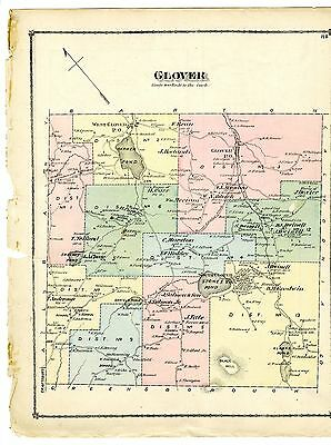 1878 Map of Glover, Vermont from Atlas of Lamoille & Orleans Counties - original
