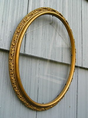 Ornate Edge Gold Antique Aesthetic Art Crafts Oval Picture Frame 10 x 12