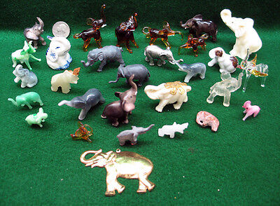 29 Miniature Elephant Collectables - Pristine Condition - Large Lot