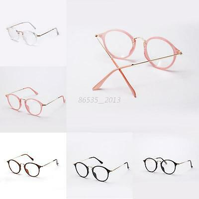 Stylish Unisex Vintage Style Glasses Metal Frame Clear Lens Spectacles Eyeglass