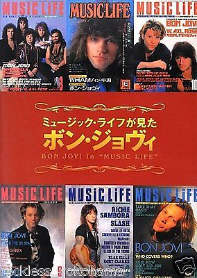 Bon Jovi in Music Life Japan Magazine Reproduced Special Photo Book
