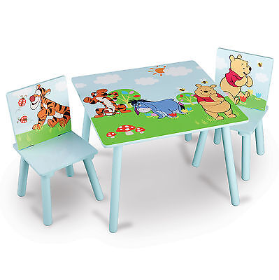 Delta Children Disney Winnie The Pooh Wooden Table & Chairs Set Bedroom Playroom