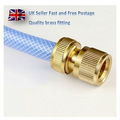 Quality Brass hose pipe connector adapter fitting garden window clean female 1/2