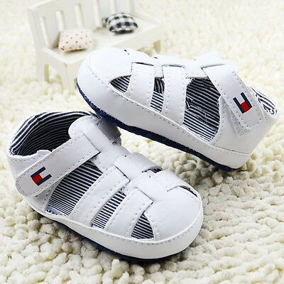 Infant Toddler Baby Boy Soft Sole Crib Shoes Sandals Sneaker Newborn 0-18 Months