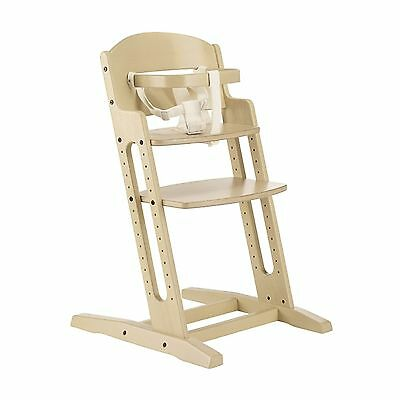 New Babydan White Wash Danchair Wooden High Chair Adjustable Highchair & Harness