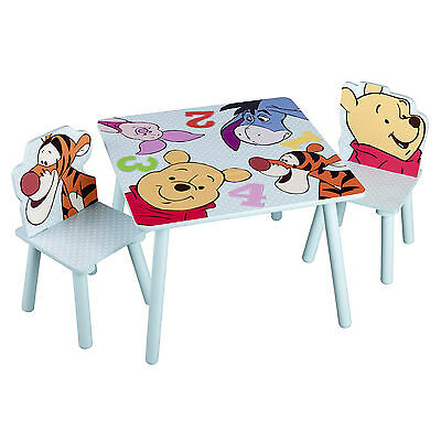 Delta Children Disney Winnie The Pooh Wooden Table & Chairs For Bedroom Playroom