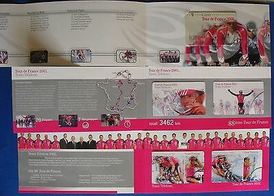 I050) Folder 3x  Tour de France 2000+2001+2002 T-Card 16€ Guthaben mint/*
