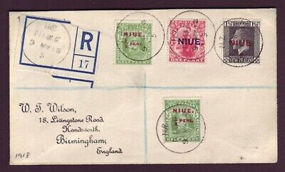 Niue 1918 Registered Cover To Uk