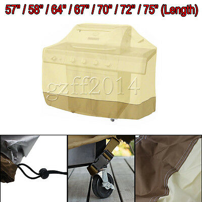 """58""""  70"""" 75""""  Waterproof BBQ Cover Smoker Barbecue Grill Protection"""