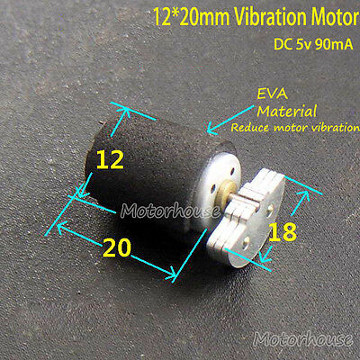 12mm*20mm 5V 90mA motor vibration motor vibration massager with buffer cushion
