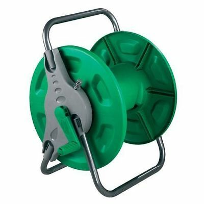 60m HOSE PIPE REEL HOLDER TROLLEY CART GARDEN WATER PORTABLE FREE STANDING STAND