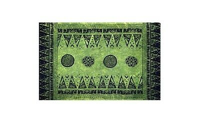"Celtic Triangles Sarong/Altar Cloth 62"" x 45""  Green"