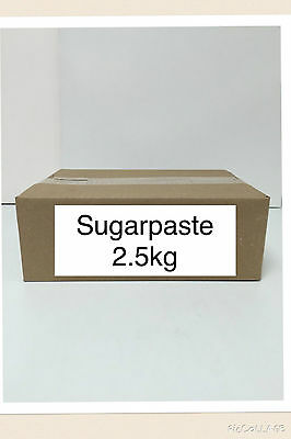 2.5kg Sugarpaste Ready to roll Fondant Icing Sugar Paste