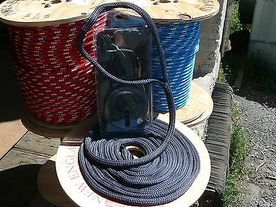 """2 NEW 1//2/"""" x 20/' Double Braid BLUE MFP Dock Lines FLOATING Boat Mooring Rope"""