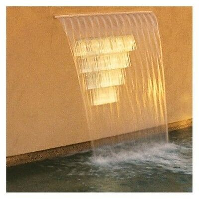 """Zodiac 1202003 2ft Back Feed Sheer Descent Waterfall with 6"""" White Extended Lip"""