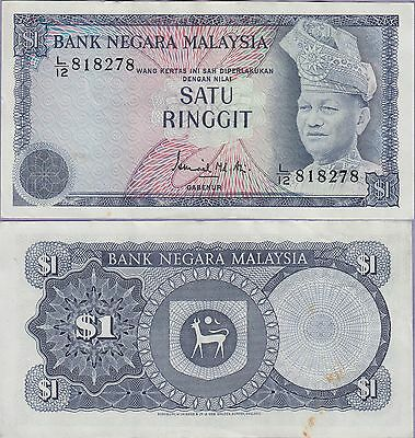 Malaysia 1 Ringgit Banknote 1972-1976 Choice Very Fine Condition Cat#7-8278