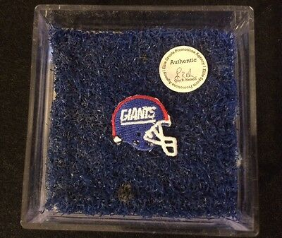 New York Giants Game Used ENDZONE Turf & Patch Meadowlands 1990's Tiki Barber