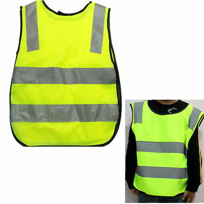 High Childrens AB Vest Hi Vis Yellow Visibility UU Waistcoat Kids Childs Jackets