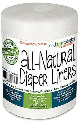 200 Bamboo Nappy/Diaper Liners/Inserts,biodegradable,Anti-bacterial,Compostable