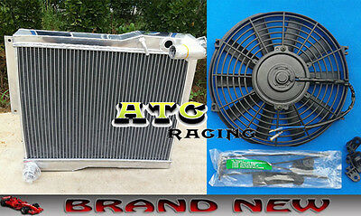 56MM Aluminum Alloy Radiator & Fan for MG MGB GT/ROADSTER 1977-1980 77 78 79 80