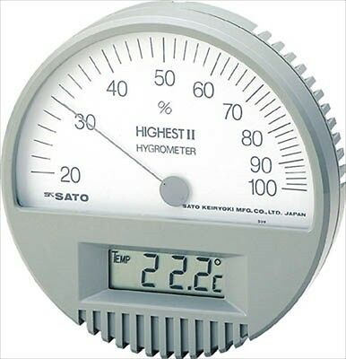 SATO Thermo-Hygrometer, 7542-00, Made in JAPAN