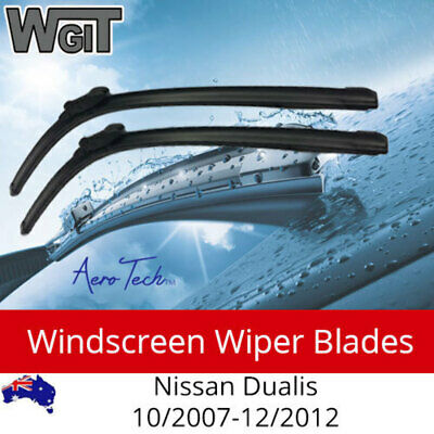 Windscreen Wiper Blades for Nissan Dualis 10/2007-12/2012 - Aero Design (PAIR)