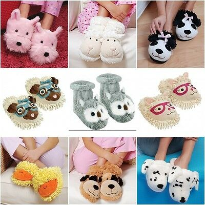 Animal Cat Dog Lovers Novelty Funny Slippers Socks Boots One Size 4-7 Aroma Home