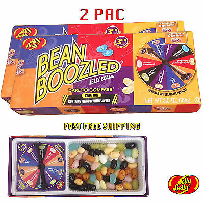 2 BOXES BEAN BOOZLED SPINNER GAME 3.5oz JELLY BELLY. HIGH DEMAND!!