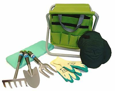 Gardening Planting Hand Tools Set and Tool Bag Stool Knee Pads Gloves Garden Kit