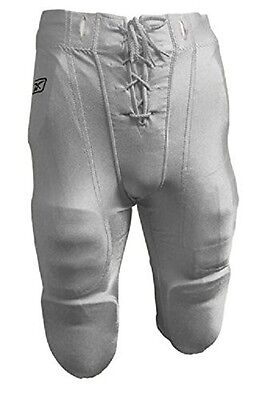 New Reebok RBK Youth Slotted Football Dazzle Finish Game Practice Pants White
