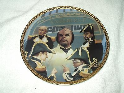 The Hamilton Collection Collector's Plate Star Trek Worf's Ceremony