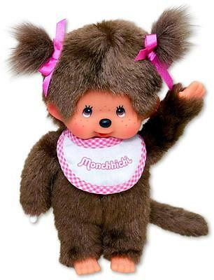 "MONCHHICHI GIRL Original Sekiguchi 7.5"" Pink Monchichi plush monkey Doll toy NEW"