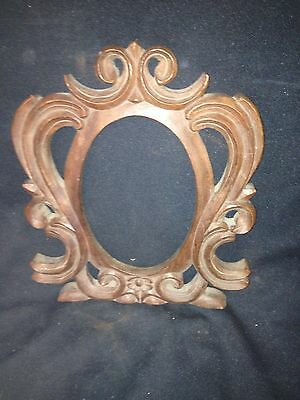 "1940's 11 3/8"" Carved Wood Architectural Pediment"