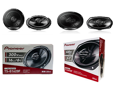 "Pioneer Ts-G1620F 6.5"" 250W 2-Way + Ts-G6930F 6X9"" 300W 2-Way Car Audio Speakers"
